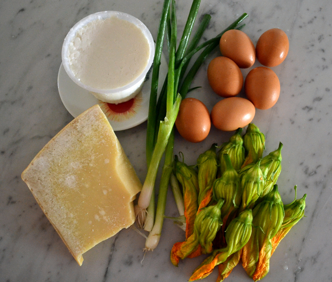 The essential ingredients for the frittata | labellasorella.com