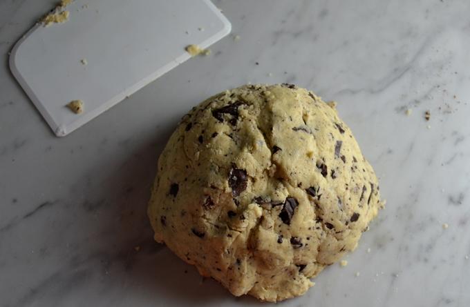 Lavender Biscotti dough flecked with bittersweet chocolate   labellasorella.com
