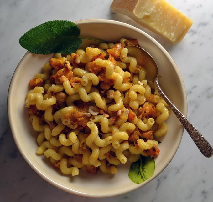 Cavatappi with Butternut Squash along with some Parmigiano | labellasorella.com