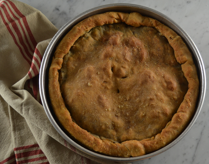 Pizza di Scarola or Escarole Pie | labellasorella.com