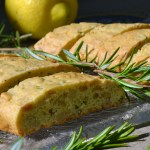 Olive Oil Biscotti Scented with Rosemary & Lemon