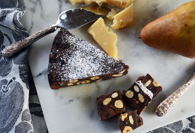 Chocolate Panforte makes the ideal accompaniment to a cheese plate | labellasorella.com