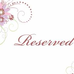 Reserved Signs For Chairs Template Chair Stool White Guest Book Table Sign