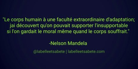adaptation résilience - Nelson Mandela