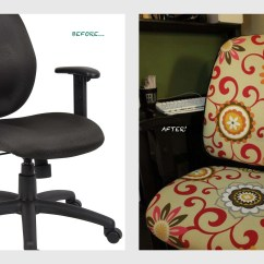 Reupholster Office Chair Back Egg On Stand Shes Crafty Project Harmony Continues La Belle Hibou