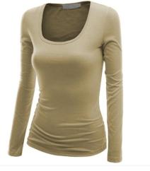 Basic long sleeve tan/nude top