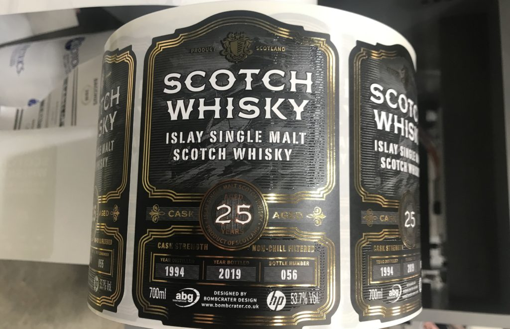 scotch whiskey label