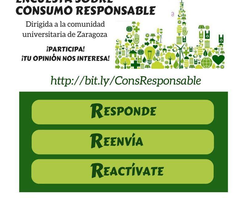Encuesta sobre consumo responsable: Responde, Reenvía, Reactívate