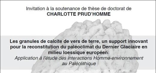 Invitation soutenance de thèse - Charlotte PRUD'HOMME