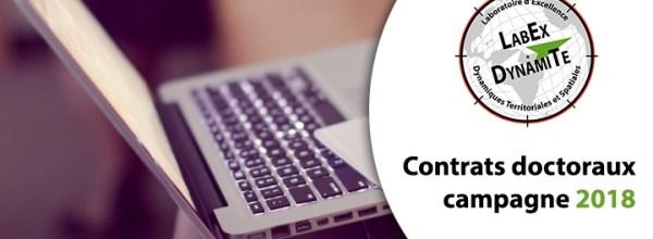 Contrats doctoraux – Campagne 2018 : Résultats