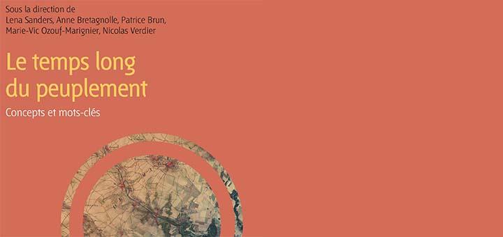 """Couverture de l'ouvrage """"Le temps long du peuplement. Concepts et mots-clés"""""""