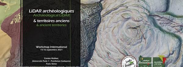 15-16/09/2021 – Workshop international «LiDAR archéologiques et territoires anciens»