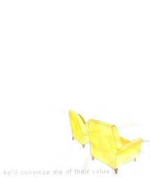 twin yellow chairs