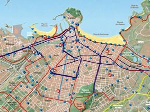 Mapa Carril Bici Gijon.Nuevo Plano Ciclista En Bicicleta Por Gijon Xixon La Biciclante