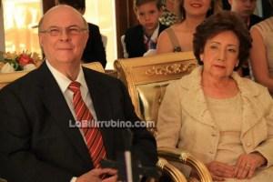 Hipólito Mejía junto a su esposa, doña Rosa Gómez de Mejía