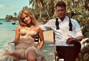 """Jennifer López y el actor Josh Duhamel en un descanso del rodaje en """"Shotgun Wedding"""""""
