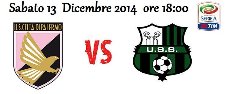 Palermo – Sassuolo (13/12/2014) [Live Blog]