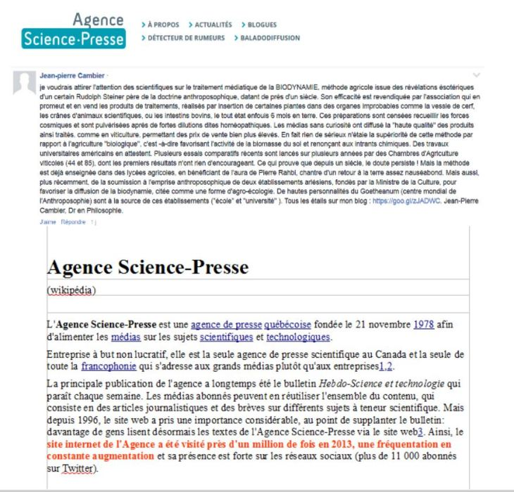 biodynamie sciences-presse