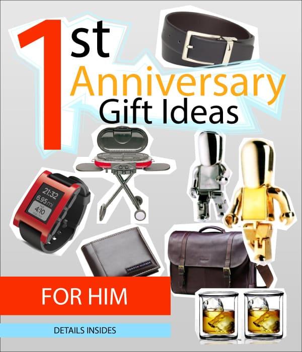 1st Wedding Anniversary Gift Ideas For Him