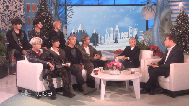 BTS is in ellen show from ellentube