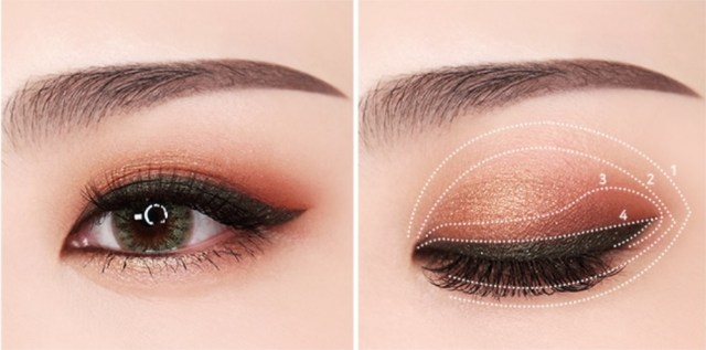 Khaki eye makeup
