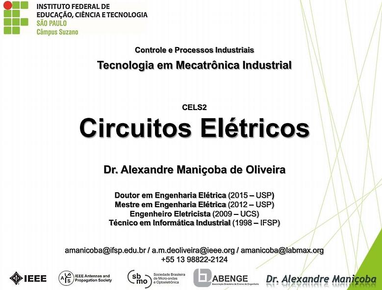 Apostila Completa do Curso de Circuitos Elétricos 2016 já está disponível