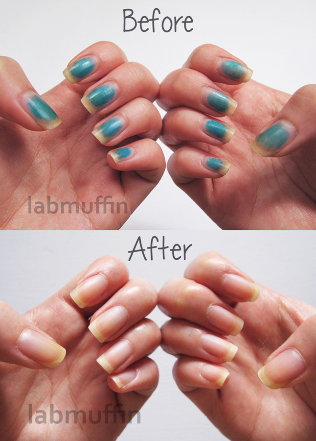 How To Clean Stained Gel Nails : clean, stained, nails, Stained, Nails!, Remove, Stains, Muffin, Beauty, Science