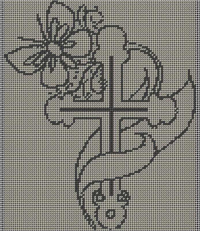 Christ07 2colour (small cross-stitch pattern)