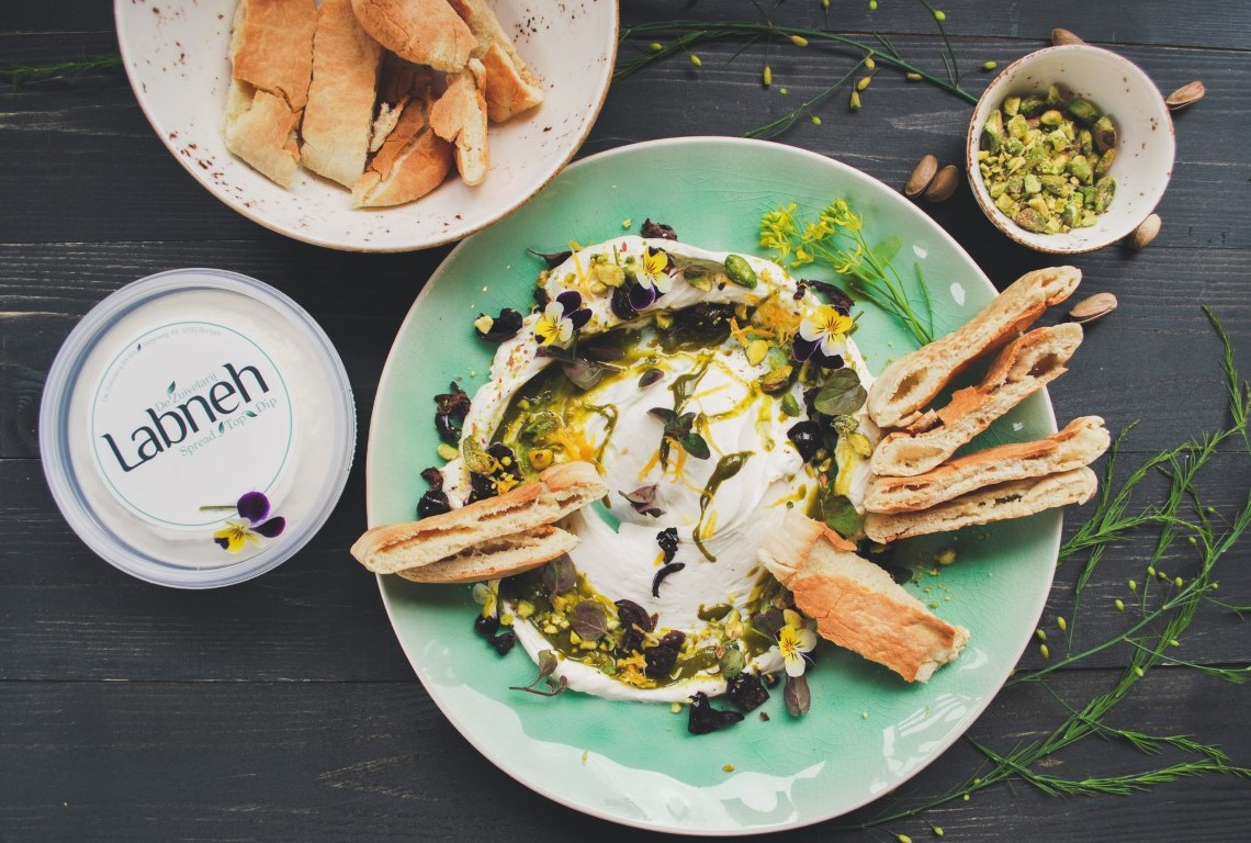 Labneh with pistachio