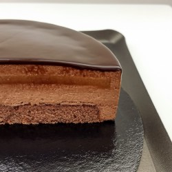 Sacher Torte with Chocolate Mousse and Apricot Confit
