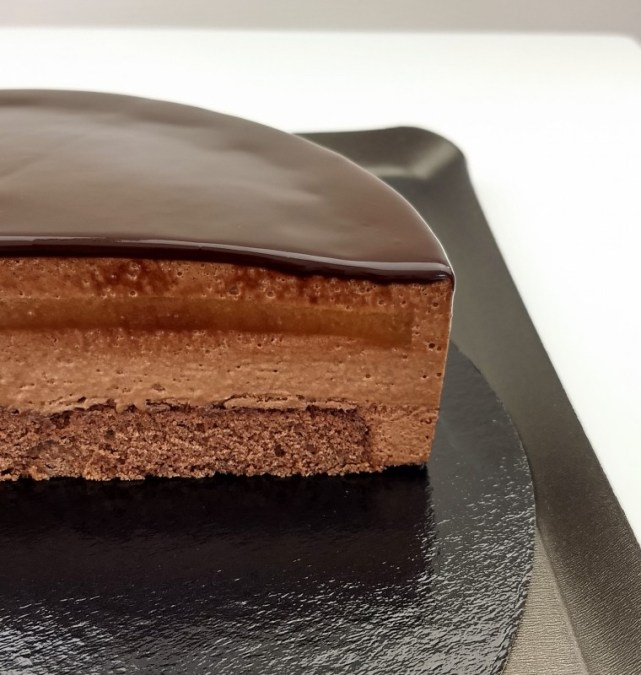 Sacher Chocolate Mousse Cake with Apricot