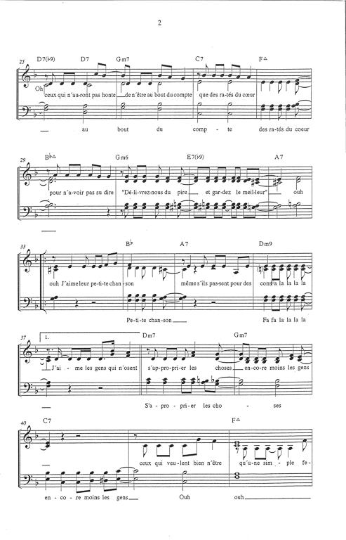 Paroles J'aime Les Gens Qui Doutent : paroles, j'aime, doutent, Partition, Musique,, éditeur, Partitions, Chorale