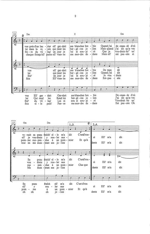 Parole Siffler Sur La Colline : parole, siffler, colline, Partition, Musique,, éditeur, Partitions, Chorale