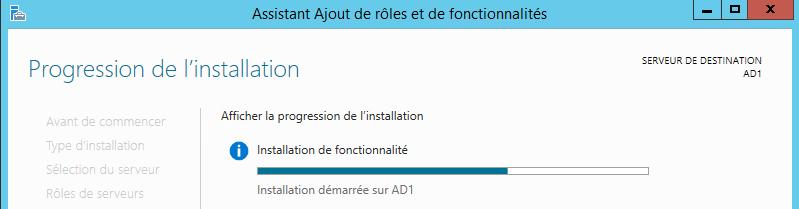 Création d'un infra simple d'un serveur Active Directory 2012R2