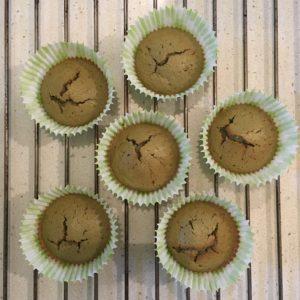 muffin au thé matcha