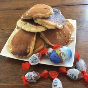 pancake fourré au chocolat