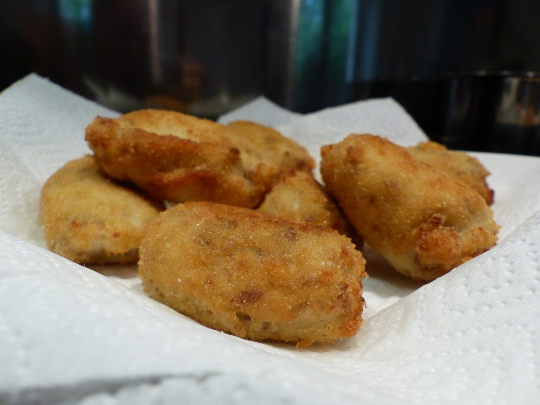 las croquetas de pollo