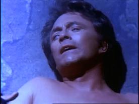 Banner meurt. Image extraite de La mort de l'incroyable Hulk.