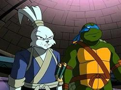 Usagi et Leonardo. Image extraite de Tortues ninja (2003)
