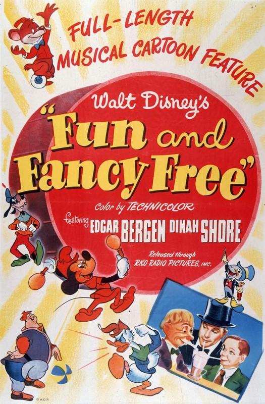 1947 Fun and Fancy Free Poster 525x800 Les affiches des 53  films Disney de 1937 à 2013  design cinema 2 art