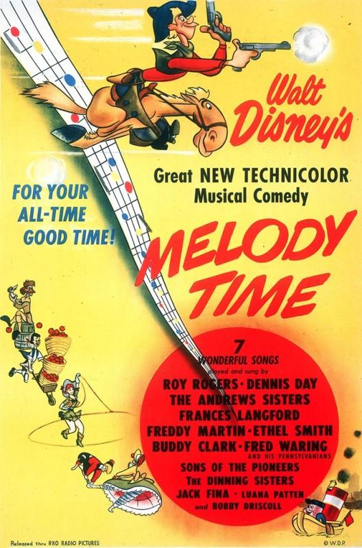 1948 Melody Time Poster 528x800 Les affiches des 53 films Disney de 1937 à 2013 design cinema 2 art