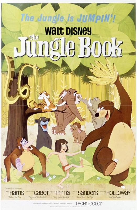 1967 The Jungle Book Poster 523x800 Les affiches des 53 films Disney de 1937 à 2013 design cinema 2 art