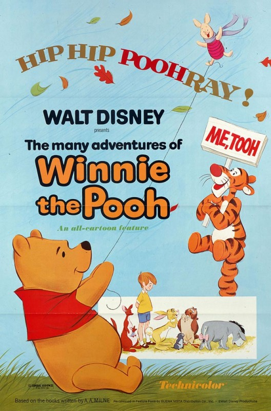 1977 The Many Adventures of Winnie the Pooh Poster 528x800 Les affiches des 53 films Disney de 1937 à 2013 design cinema 2 art