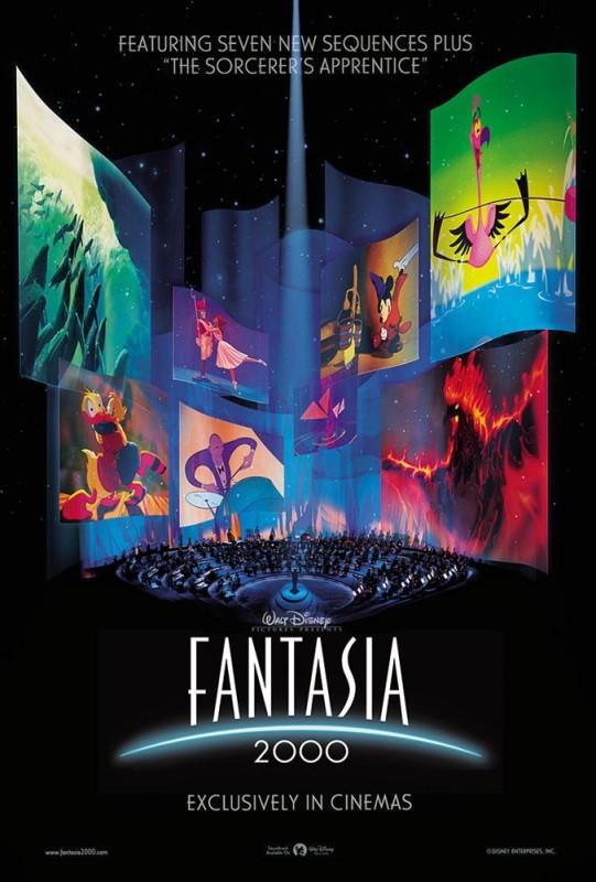 1999 Fantasia 2000 Poster 541x800 Les affiches des 53 films Disney de 1937 à 2013 design cinema 2 art