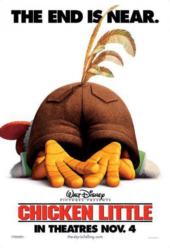 2005 Chicken Little Poster 549x800 Les affiches des 53 films Disney de 1937 à 2013 design cinema 2 art