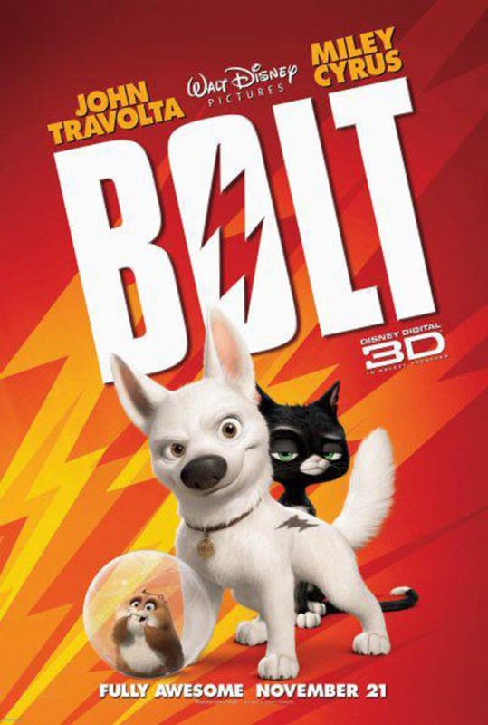 2008 Bolt Poster 539x800 Les affiches des 53 films Disney de 1937 à 2013 design cinema 2 art