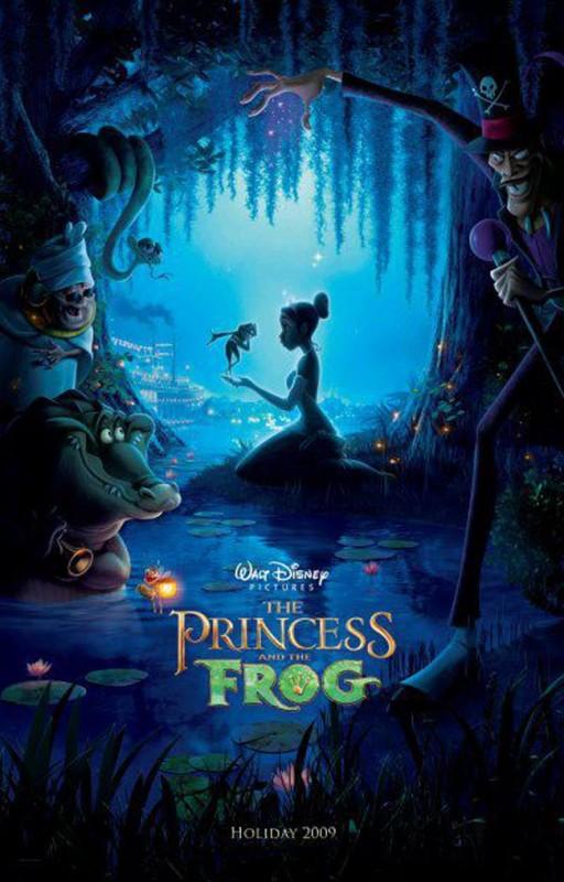 2009 The Princess and the Frog Poster 512x800 Les affiches des 53  films Disney de 1937 à 2013  design cinema 2 art