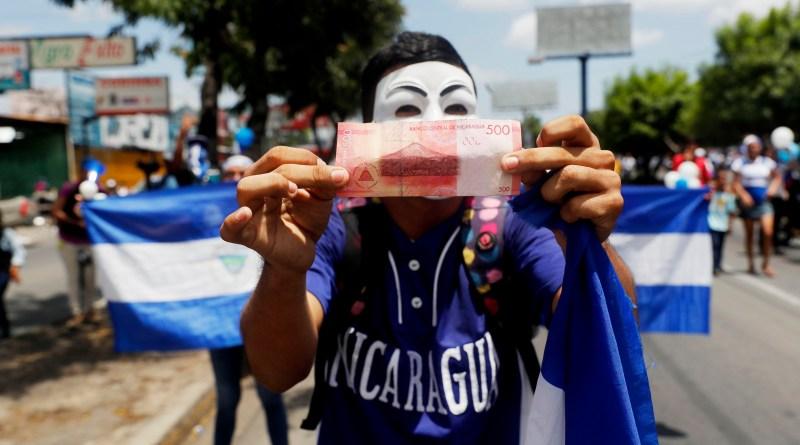 Manifestantes realizan plantón contra el Gobierno de Nicaragua