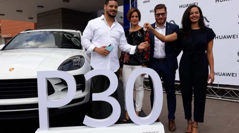 (Video): HUAWEI y ALTICE anuncian ganador del concurso del Huawei P30 y hacen entrega de una Porsche Macan 2019
