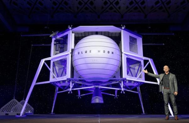 Blue Moon: Jeff Bezos presentó un módulo espacial para misiones a la Luna